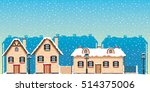 vector illustration. winter... | Shutterstock .eps vector #514375006