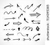 hand drawn arrows  vector set | Shutterstock .eps vector #514395385