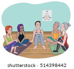 yoga club people  editable... | Shutterstock .eps vector #514398442