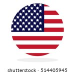 us flag in the shape of a circle | Shutterstock .eps vector #514405945