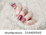 nail art and knitted sweater | Shutterstock . vector #514409545