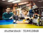 robotics engineer students... | Shutterstock . vector #514413868