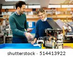 robotics engineer students... | Shutterstock . vector #514413922