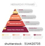 hierarchy pyramid infographic | Shutterstock .eps vector #514420735