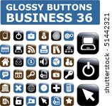 36 glossy business buttons.... | Shutterstock .eps vector #51442321