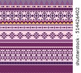 ethnic seamless pattern with... | Shutterstock .eps vector #514426402