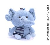 Soft Toy Elephant Isolated On...