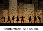 band show on night city... | Shutterstock .eps vector #514428406