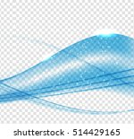 abstract blue wave set on... | Shutterstock . vector #514429165