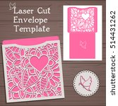 lasercut vector wedding... | Shutterstock .eps vector #514431262