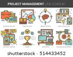 project management infographic... | Shutterstock .eps vector #514433452