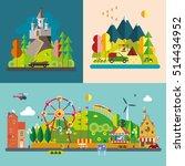 modern flat design conceptual... | Shutterstock .eps vector #514434952