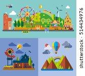 modern flat design conceptual... | Shutterstock .eps vector #514434976