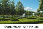 green park  fountains  bushes... | Shutterstock . vector #514445386