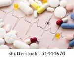 ekg and  tablets | Shutterstock . vector #51444670
