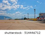 aircraft parked on the runway... | Shutterstock . vector #514446712