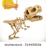 dinosaur skeleton cartoon...
