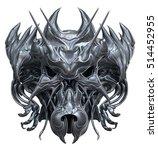 metallic skull design isolated... | Shutterstock . vector #514452955