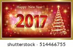 2016 christmas card with a... | Shutterstock .eps vector #514466755