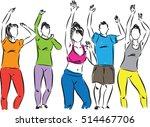 group of fitness dancers...   Shutterstock .eps vector #514467706