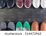 shoes on a wooden background | Shutterstock . vector #514472965