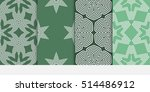 set of seamless floral... | Shutterstock .eps vector #514486912