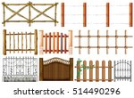 different designs of fence...   Shutterstock .eps vector #514490296