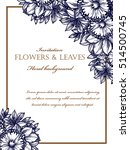 invitation with floral... | Shutterstock . vector #514500745