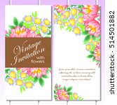 romantic invitation. wedding ... | Shutterstock . vector #514501882
