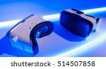 two vr virtual reality glasses. ... | Shutterstock . vector #514507858