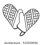 isolated kitchen gloves design   Shutterstock .eps vector #514520056
