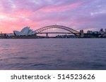 view of sydney opera house... | Shutterstock . vector #514523626
