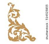 gold vintage baroque corner... | Shutterstock .eps vector #514525855