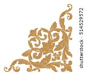 gold vintage baroque corner... | Shutterstock .eps vector #514529572