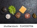ingredients for cooking black... | Shutterstock . vector #514530706