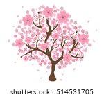beautiful cherry blossom tree... | Shutterstock .eps vector #514531705