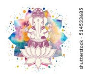 ganesha  or ganapati  indian... | Shutterstock . vector #514533685