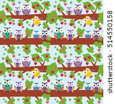 seamless pattern set bright... | Shutterstock . vector #514550158