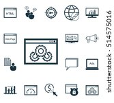 set of advertising icons on... | Shutterstock .eps vector #514575016