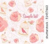 floral summer composition.... | Shutterstock .eps vector #51457663