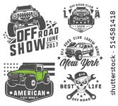 set of off road car for emblems ... | Shutterstock .eps vector #514581418
