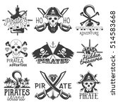 Set Of Pirates Logos  Emblems ...