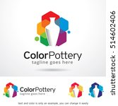 color pottery logo template... | Shutterstock .eps vector #514602406