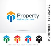property abstract logo template ... | Shutterstock .eps vector #514602412