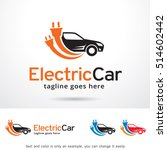 electric car logo template... | Shutterstock .eps vector #514602442