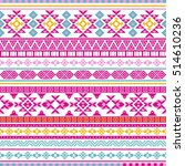 ethnic seamless pattern with... | Shutterstock .eps vector #514610236