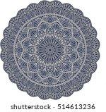 gold mandala on dark blue... | Shutterstock .eps vector #514613236