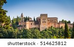 famous alhambra royal palace ... | Shutterstock . vector #514625812