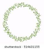 floral wreath  vector | Shutterstock .eps vector #514631155