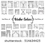 vector set with hand drawn... | Shutterstock .eps vector #514634425